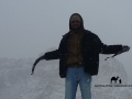 Bedouin in the snow, Sinai, Go tell it on the mountain