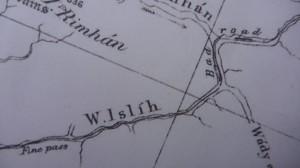 British Ordnance Survey Map, Sinai, 1869, Go tell it on the mountain