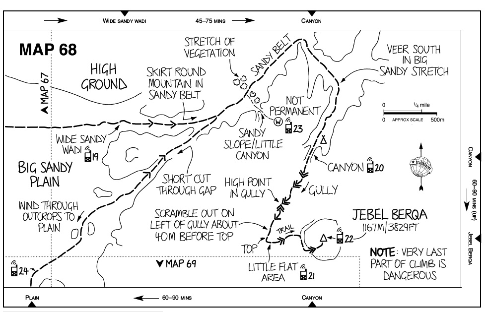 Sinai The Trekking Guide Map, Jebel Berqa