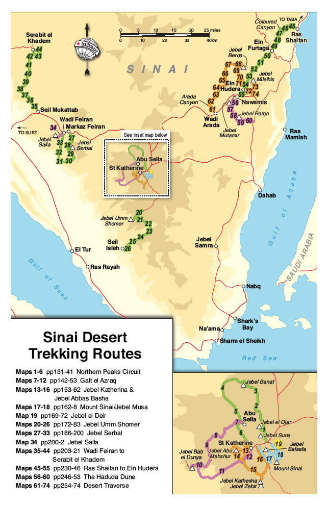 Sinai The Trekking Guide Map