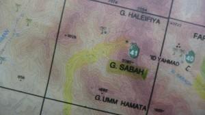 Sinai Map of Attractions, Jebel Sabbah