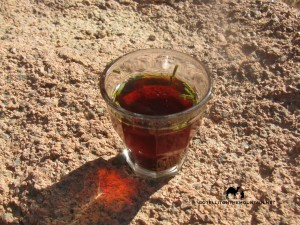 Tea glass, Sinai, Go tell it on the mountain_result