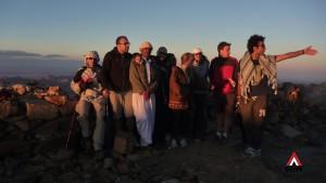 Walking group, Jebel Abbas, Three Peaks Egypt, Ben Hoffler